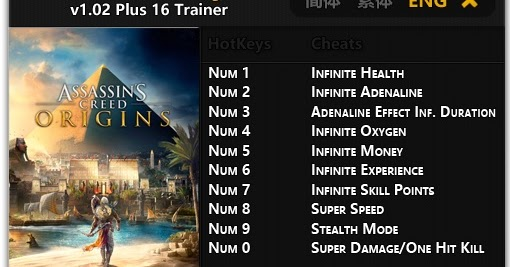 Assassin's Creed Games Trainer Full Version