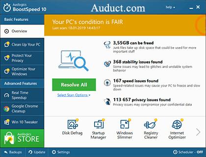 Auslogics BoostSpeed crack Full Version